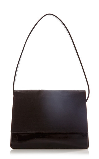What Goes Around Comes Around - Vintage Chanel Patent & Cotton Flap Bag From What Goes Around Comes Around