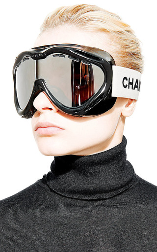 Vintage Chanel Black Ski Goggles From What Goes Around