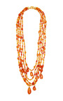Vintage Chanel Amber Multi Strand Necklace From What Goes Around Comes Around by What Goes Around Comes Around for Preorder on Moda Operandi