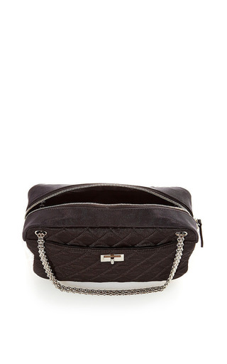 Vintage Chanel Black and White Grosgrain Bag from What Goes Around Comes Around by What Goes Around Comes Around for Preorder on Moda Operandi