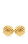 Vintage Chanel Gold Large Round Earrings from What Goes Around Comes Around by What Goes Around Comes Around for Preorder on Moda Operandi