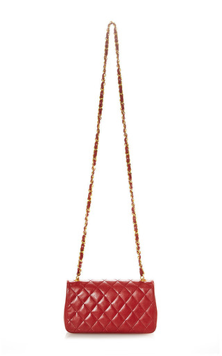 What Goes Around Comes Around - Vintage Chanel Red Mini Half Flap Bag From What Goes Around Comes Around