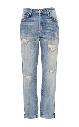 The fling distressed boyfriend jeans by CURRENT/ELLIOTT Available Now on Moda Operandi