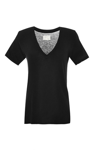 The V-Neck Cotton T-Shirt by Current/Elliott Now Available on Moda Operandi