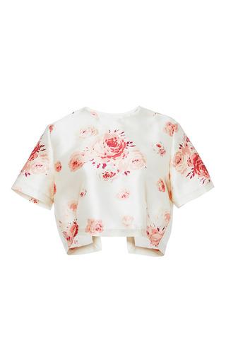 Helen rose printed satin top by VILSHENKO Available Now on Moda Operandi