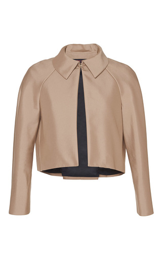 Cropped swing back jacket by MARTIN GRANT Available Now on Moda Operandi