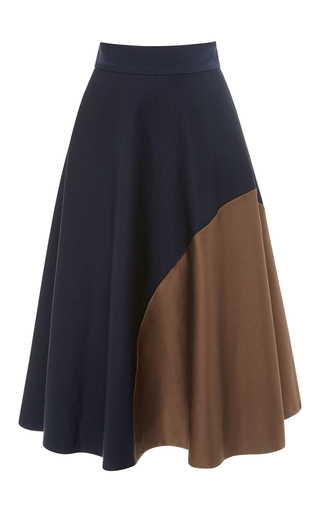 Color Block Stretch Satin Skirt by MARTIN GRANT Now Available on Moda Operandi