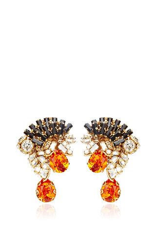 Mohawk swarovski-crystal earrings by BIJOUX HEART Available Now on Moda Operandi