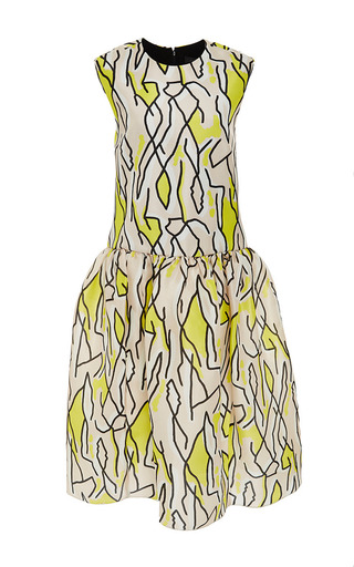 M'o exclusive: meridian printed silk dress by ELLERY Available Now on Moda Operandi