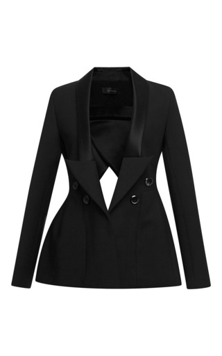 Christen satin-trimmed cut-out jacket by ELLERY Now Available on Moda Operandi