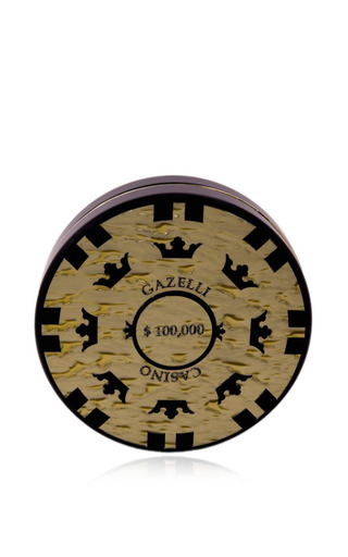 Casino gazelli gold clutch by URANIA GAZELLI Preorder Now on Moda Operandi