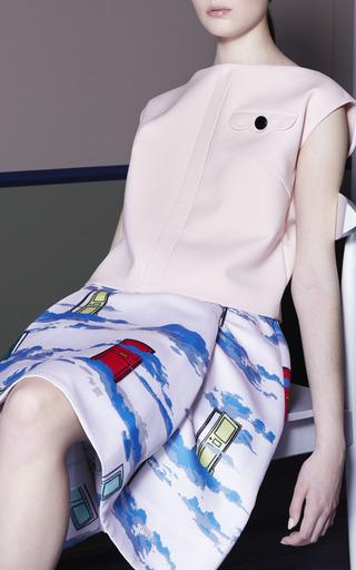 Placket Detail Tank In Dusty Pink Spongy Cotton by Osman for Preorder on Moda Operandi