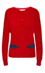 Cashmere Cloud Cardigan In Red Cashmere by Osman for Preorder on Moda Operandi