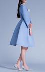 Sky Blue Princess Midi Coat by Esme Vie for Preorder on Moda Operandi