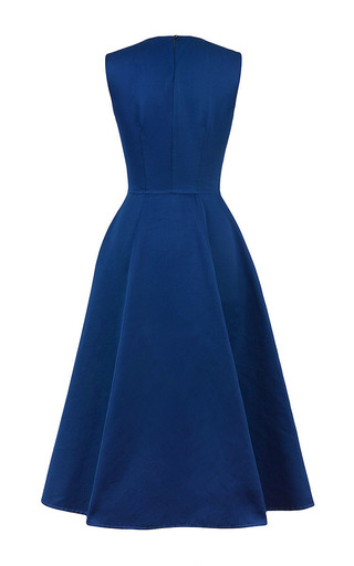 Marine Blue Full Skirt Maxi Dress by Esme Vie Now Available on Moda Operandi