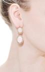 Unique Oval Pink Opal Earrings With Rosecut Diamonds by Andrea Fohrman for Preorder on Moda Operandi
