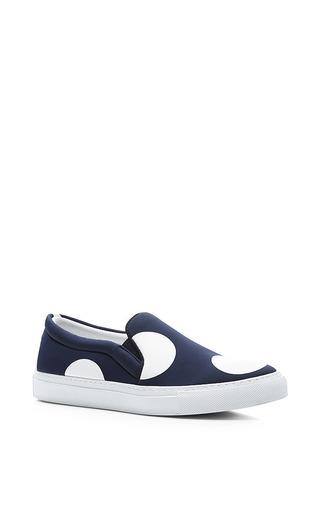 M'o exclusive: printed neoprene slip-on sneakers by JOSHUA SANDERS Available Now on Moda Operandi