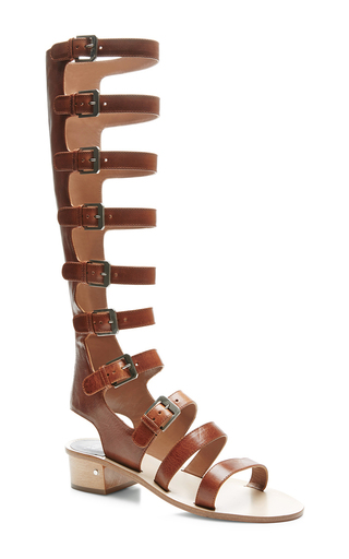 Halle tall leather gladiator sandals by LAURENCE DACADE Now Available on Moda Operandi