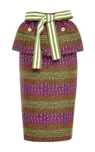 Printed peplum skirt by STELLA JEAN Available Now on Moda Operandi
