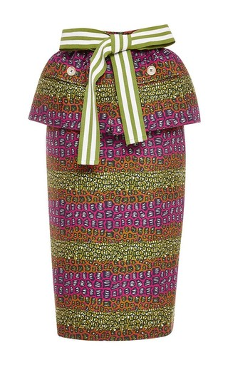 Printed peplum skirt by STELLA JEAN Available Now on Moda Operandi