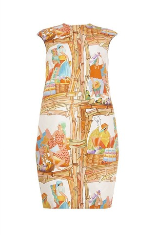 Printed cap sleeve dress by STELLA JEAN Available Now on Moda Operandi