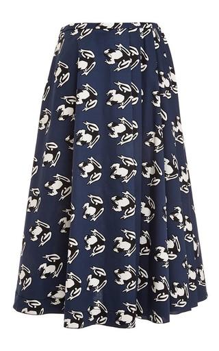 Printed cotton-blend midi skirt by AQUILANO.RIMONDI Available Now on Moda Operandi