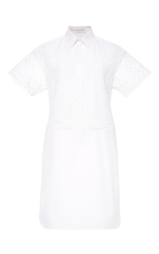 Lace shirt dress by AQUILANO.RIMONDI Now Available on Moda Operandi