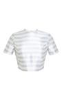 Striped Corset Seamed Tee by Katie Ermilio for Preorder on Moda Operandi