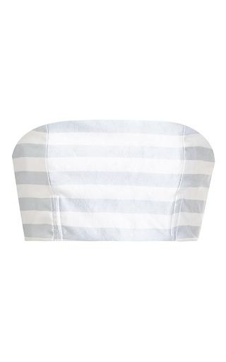 Slim striped bandeau by KATIE ERMILIO Now Available on Moda Operandi