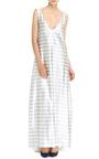 Katie Ermilio - A-Line Tailor Bow Tank Gown