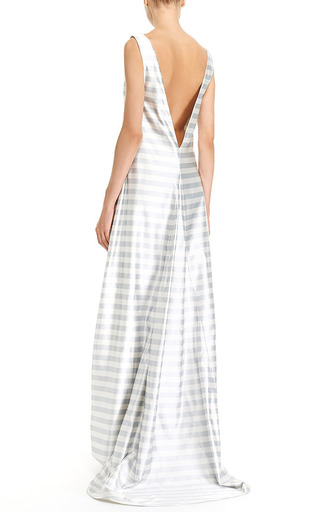 A Line Tailor Bow Tank Gown by KATIE ERMILIO for Preorder on Moda Operandi