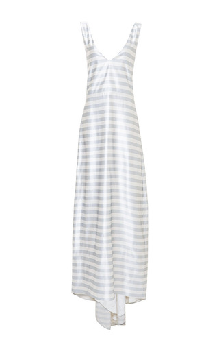 A-Line Tailor Bow Tank Gown by Katie Ermilio for Preorder on Moda Operandi
