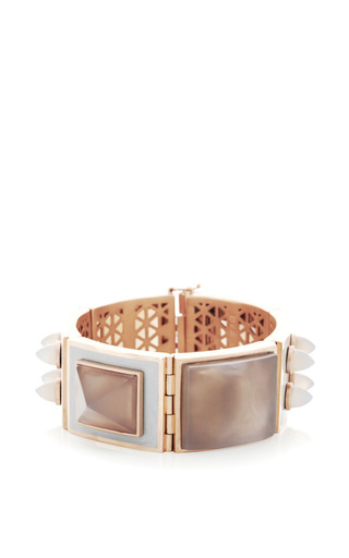 Rose Gold-Plated Enamel and Agate Bracelet by Eddie Borgo Now Available on Moda Operandi