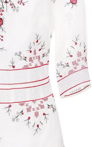 Vilshenko - Bella Embroidered Organza Tunic Dress