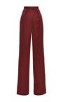 Lydia Garnet Wide Leg Cotton Pant by Vilshenko for Preorder on Moda Operandi