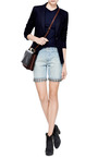 Gingham-Trimmed Denim Shorts by Each x Other Now Available on Moda Operandi