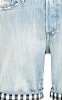 Each x Other - Gingham-Trimmed Denim Shorts