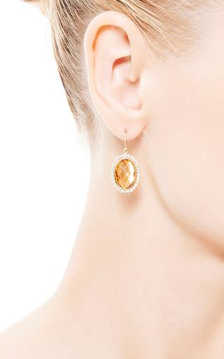 Kothari - Oval Citrine Earrings