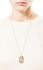 One Of A Kind Crazy Lace Agate Necklace by Kothari for Preorder on Moda Operandi