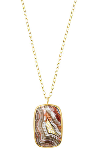 Kothari - One Of A Kind Crazy Lace Agate Necklace