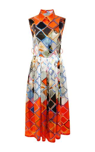 Darwen printed silk-satin dress by PREEN BY THORNTON BREGAZZI Available Now on Moda Operandi