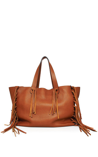 Valentino - Fringed Leather Tote