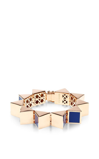 Prism gold-plated and enamel bracelet by EDDIE BORGO Now Available on Moda Operandi