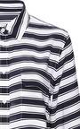 Equipment - Admiral Stripe Crepe de Chine Slim Signature Shirt