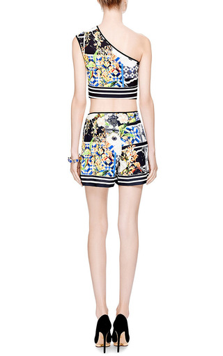 Greek Tiles Paneled Shorts by Clover Canyon Now Available on Moda Operandi