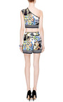 Greek Tiles Paneled Shorts by Clover Canyon for Preorder on Moda Operandi