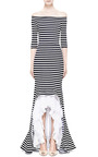 Maxi Striped Dress by Natasha Zinko for Preorder on Moda Operandi