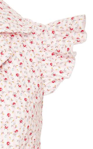 Natasha Zinko - Pink Striped With Florals Blouse