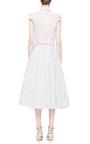 Midi Cotton Striped With Florals Skirt by Natasha Zinko for Preorder on Moda Operandi