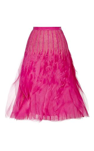 Accordion pleated organza skirt in fuchsia by SACHIN & BABI Now Available on Moda Operandi